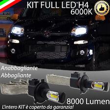 KIT FULL LED FIAT PANDA III LAMPADE LED H4 6000K BIANCO GHIACCIO NO ERROR 8000LM