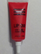 NEW OBSESSIVE COMPULSIVE COSMETICS OCC NEON RED LIP TAR VEGAN LIP GLOSS HARLOT