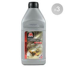 Millers Oils Universal Brake Fluid DOT 4 - 3 x 1 Litre 3L