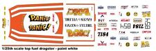 """HAZEN & VELEBIL """"PANIC"""" Top Fuel Dragster 1/25th - 1/24th Scale Decals NHRA"""