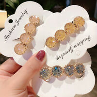Women Fashion Vintage Hairpin Hair clip Jewelry Gifts Bobby Crystal Rhinestone