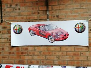 alfa romeo spider 916s     large pvc  WORK SHOP BANNER garage man cave SHOW