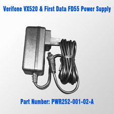 Verifone Vx 520 Contactless & First Data FD55 POWER SUPPLY P/N PWR252-001-02-A