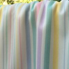 """Pastel Stripes Synthetic Double Knit Fabric Sold by the Yard 60"""" width"""