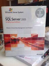 Microsoft SQL Server 2005 Enterprise Edition 1 caja de venta completo de procesador