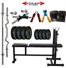 Lycan 22 kg  with 3 in 1 Bench weight lifting home gym fitness pack