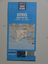 Carte IGN série bleue au 1/25 000 : Istre Golfe de Fos 3044 E