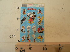 STICKER,DECAL SHEET WITH STICKERS INTRODUCT DISNEY MICKEY MOUSE 1