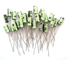 .68uF 50V Radial Lead Electrolytic Capacitors: Small Size: 25/Pack: Great Price