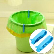 2Pc Household Dustbin Waste Bin Trash Can Garbage Bag Fixed Clip Holder