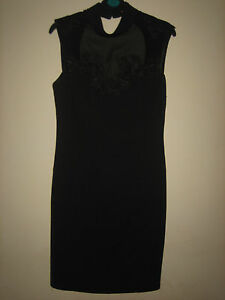 ( NEW NO TAG ) A LOVELY STYLISH BOOHOO BLACK DRESS SIZE 10 APPROX 37 INCHES LONG