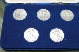 silver walking liberty half dollar collection nice set
