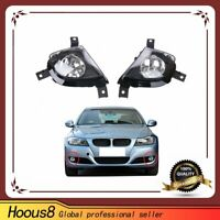 2 Pcs Fog Lights Driving Lamps Cover For BMW 325i 3-Series E90 E91 2009-2011