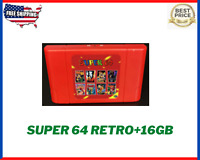 SUPER 64 Retro Game Card 340 in 1 Game Cartridge for N64 Video Game Console NEW