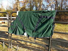 Hunter Green With Navy Blue Binding Canvas Horse Sheet Size 62 Color Best Pic#1