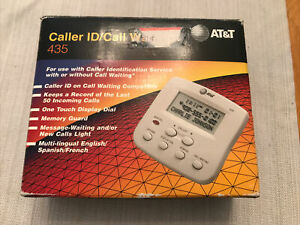 AT&T CALLER ID W/ VISUAL CALL WAITING 435- USED COMPLETE W/ MANUAL