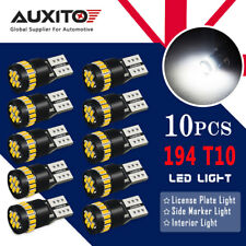 AUXITO 10X Canbus T10 194 168 W5W LED Number Plate light Car Interior Light Bulb