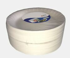 More details for white foam disposable plates small medium large polystyrene party food bbq kids