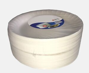 White Foam DISPOSABLE PLATES Small Medium Large Polystyrene Party Food BBQ Kids