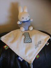 Dick Bruna Miffy White blue nijntje 1 Comforter Blankie doudou cuddly toy b4
