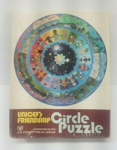 Vintage RARE Mid Century UNICEF's Friendship Circle Puzzle 200 Pcs
