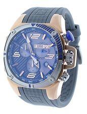 Technosport TS-100-6F1 Mens Watch Formula 1 Gray & Blue Swiss Chrono Rose Gold