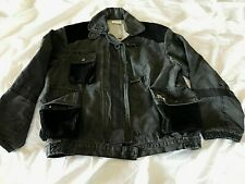 Vintage Guess Georges Marciano Black L denim jacket 80's Rare