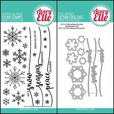 """Avery Elle """"Snowflakes"""" Clear Stamps Only Or Clear Stamp and Die Bundle"""