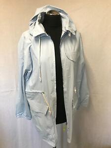 dünne PVC  Regenjacke  Raincoat Freizeit  Gr M/L blau