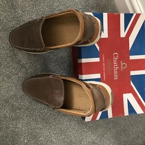 Mens shoes size 12 - Chatham Avery deck shoes in soft  brown leather BNIB