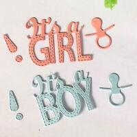 Girl & Boy Metal Cutting Dies Stencils Scrapbooking Embossing Paper Card Craft