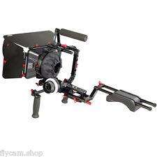 NEW DSLR Rig Set Movie Filming kit handheld Shoulder Mount Follow Focus Mattebox