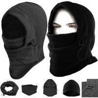 Balaclava Hood Thermal Fleece Winter Ski Mask Hat Scarf  Police Cap Neck Warmer