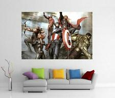AVENGERS ASSEMBLE MARVEL IRON MAN HULK THOR GIANT WALL ART PRINT POSTER H7