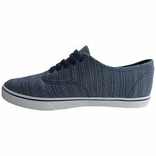 Vans Authentic Lo Pro Woven Chambray Blue Mens Shoes 5.5 Womens 7 Canvas