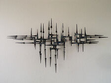 Mid Century Brutalist abstract metal Wall Sculpture By Corey Ellis Art  C Jere