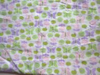 Schmetterling Pastell grün lila rosa Baby Kinder Kleider Schlafsack Kissen DIY