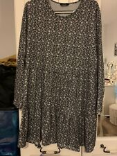 Ladies grey leopard print dress size 22 from George Asda