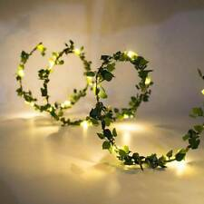 Outdoor Waterproof 2m Led Leaf Garland Copper String Lights for Party Decoration