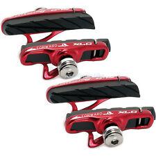 Xlc r06 vélo de course mâchoires de frein road CNC race BRAKES bremsgummis 2 paire # rouge légèrement