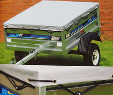 Flat tarpaulin cover for Maypole MP712 small trailer, 1240mm long  x 970mm wide