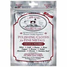 Cape Cod Metal Polishing Cloths Foil Pouch Brand New #8821 Two Polish Cloths