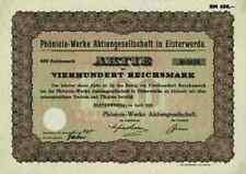 Phönicia Werke AG 1929 elsterwerda Elbe Elster VEB tornillos obra Görlitz 400 RM