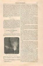 Combustion du Zinc/étain le Creuset Arbre de Jupiter GRAVURE ANTIQUE PRINT 1870