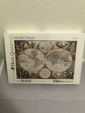 Clementoni Old Map 2000 Piece Puzzle Made In Italy High Quality Collection
