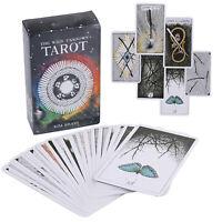78Pcs/Set Cards Wild Wood Tarot Cards Beginner Deck Vintage Fortune Telling