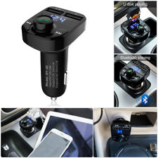 Car Wireless Bluetooth FM Transmitter Handsfree LED MP3 Player USB Charger Kit