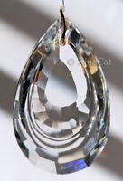 "Pear Shaped SunCatcher - Huge 89mm Loop Austrian Crystal Clear Prism 3.5"""