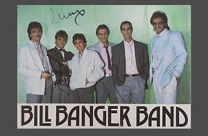 orig. Autogramm BILL BANGER BAND handsignierte Autogrammkarte Foto-Karte um 1965