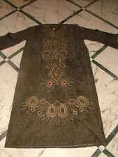 Robe Long Tunique Soutane Velours Kaftan Caftan Grande Slim-Fit 6XL